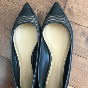 Michael Kors Leather Flats- Black- Size 9